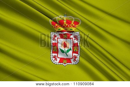 Flag Of Granada - Province Of Southern Spain