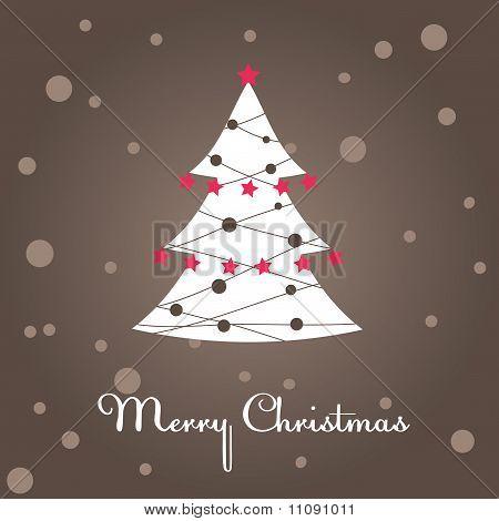 Christmas tree, decoration. Vector illustration