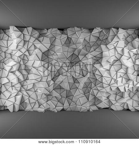 White triangles backdrop