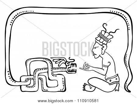 Fakir, illustration in maya style