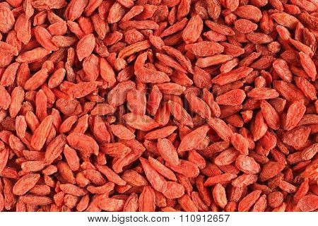 Dried red goji berries (Lycium Barbarum - Wolfberry) background