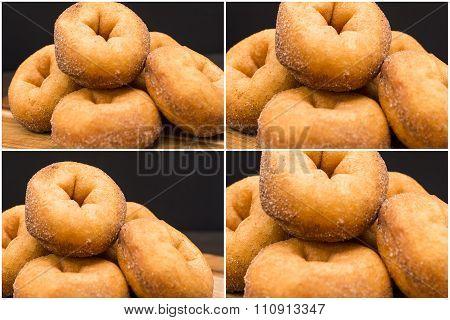 Group of cinnamon donuts