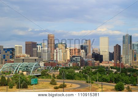 Denver, Usa - July, 4: Skyline Of Denver On July 4, 2013  In Colorado, Usa.  Denver Is The Most Popu