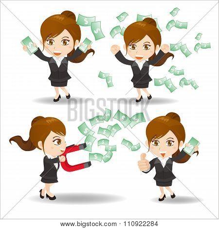 Business Woman Show Finance Money