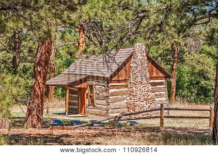 Cabin On The Edge Of The Forest