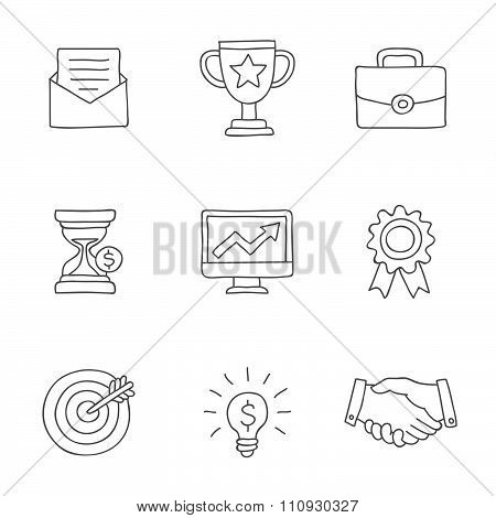 Career. Vector icons