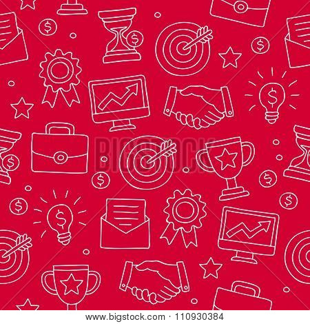 Seamless pattern of icon for a career