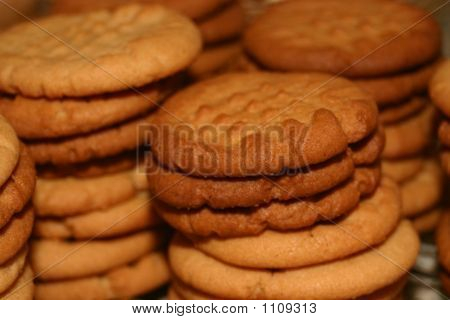 Peanut Butter Cookies Stacked