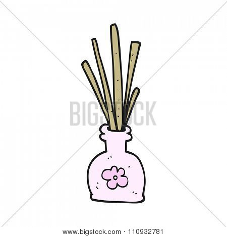 freehand drawn cartoon fragrance oil reeds