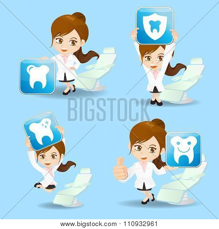 Doctor Dentist Woman Show Icon