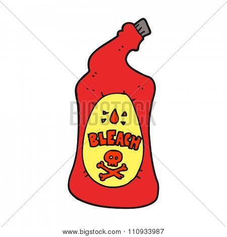 freehand drawn cartoon bleach bottle