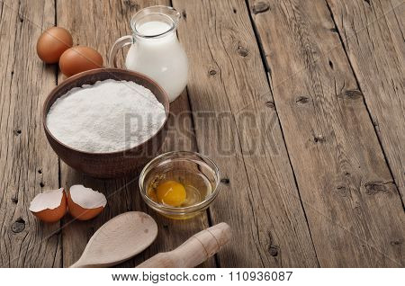 Ingredients For Cooking Flour Products Or Dough