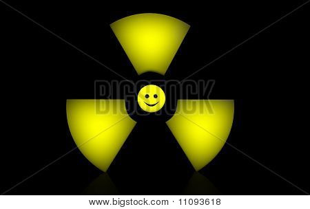 Happy Radioactive Sign