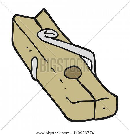 freehand drawn cartoon wood peg
