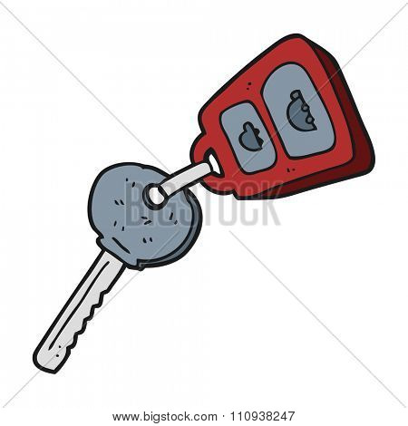 freehand drawn cartoon key
