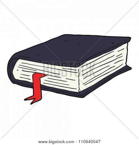 freehand drawn cartoon thick book