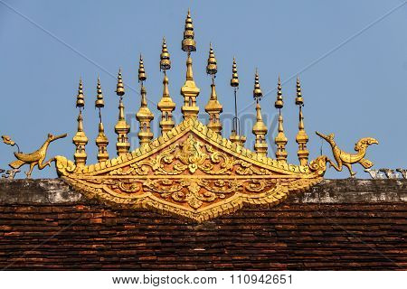 Temple Roof Architecture - Luang Prabang, Laos