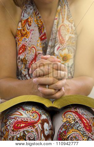 Woman Hands Over Holy Bible