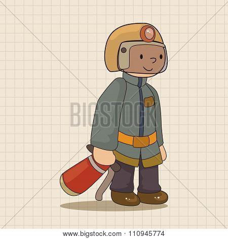 Fireman Theme Elements Vector,eps