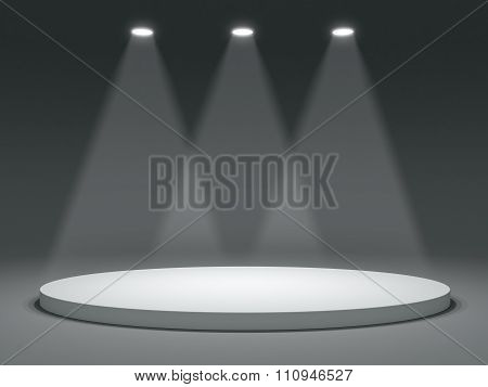 Round shape stage