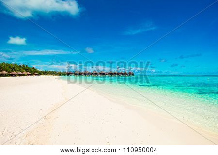Beautiful tropical view of perfect ideal island in Indian Ocean