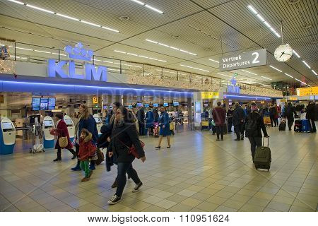 Amsterdam, Netherlands - December 6, 2013: Interior Of Amsterdam