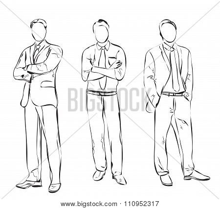 Business man sketch