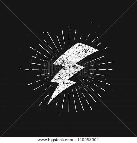 Vintage Lightning Bolt Sign.