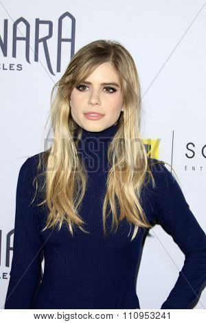 LOS ANGELES - DEC 4:  Carlson Young at the he Shannara Chronicles at the iPic Theaters on December 4, 2015 in Los Angeles, CA