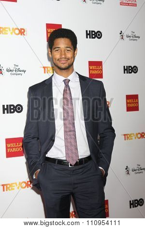 LOS ANGELES - DEC 6:  Alfred Enoch at the TrevorLIVE Gala at the Hollywood Palladium on December 6, 2015 in Los Angeles, CA