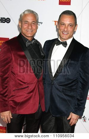 LOS ANGELES - DEC 6:  Greg Louganis, Johnny Chaillot at the TrevorLIVE Gala at the Hollywood Palladium on December 6, 2015 in Los Angeles, CA