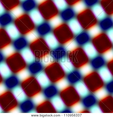 Blurry red blue rectangles isolated on white. Modern blur effects. Unusual bold concept.