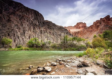 Charyn River In Canyon Of East Kazakhstan