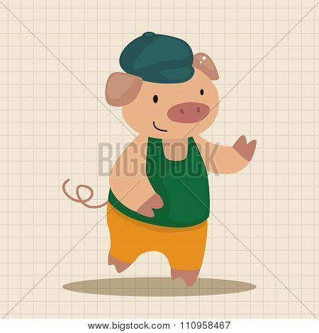 Three Little Pigs Theme Elements
