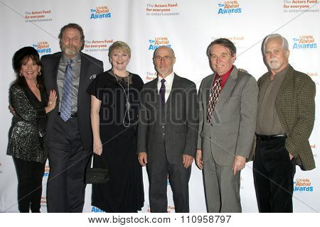 LOS ANGELES - DEC 3:  Dawn Wells, Darby Hinton, Alison Arngrim, Barry Livingston, Jerry Mathers, Tony Dow at the Looking Ahead Awards at the Taglyan Complex on December 3, 2015 in Los Angeles, CA