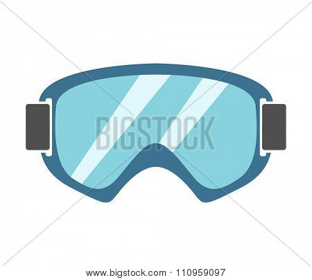 Snowboard sport glasses tools elements. Snowboarding glasses elements isolated on background. Snowboard vector cloth, snowboard glasses, snowboard board. Snowboard winter sport equipment. Snow board