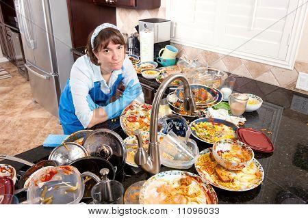 Woman doing die Gerichte