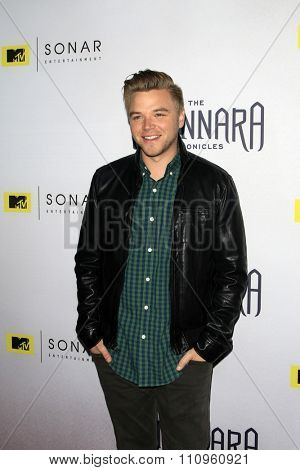LOS ANGELES - DEC 4:  Brett Davern at the he Shannara Chronicles at the iPic Theaters on December 4, 2015 in Los Angeles, CA