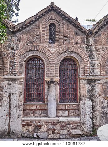 Athens Greece, medieval church detail