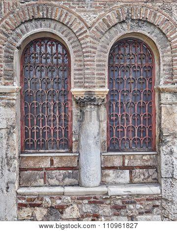 Athens Greece, medieval church windows