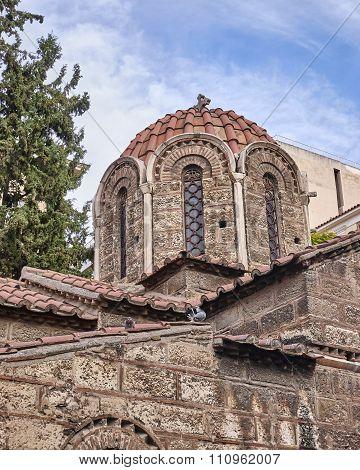 Athens Greece Panaghia Kapnikarea medieval church