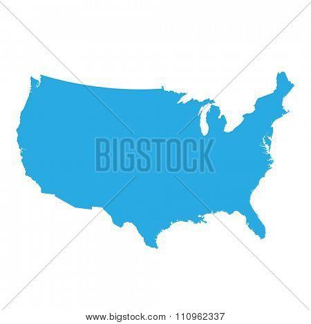 United States of America map illustration isolated on white
