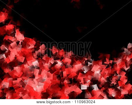 Red and Black Cubism Design