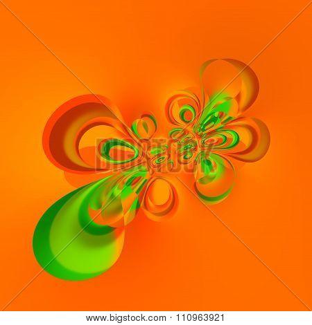 Digitally generated image. Liquid splash deco. Weird creative idea. Special warp effect.