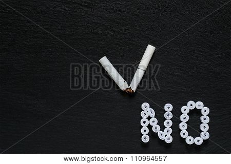 Sign Of The Ban On Smoking