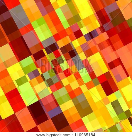Colorful abstract rectangles. Diamond style deco. Stylish tile decor. Artsy tiles mosaic.