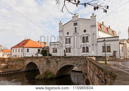 Old Mill And Stone Bridge In Brandys Nad Labem, Czech Republic