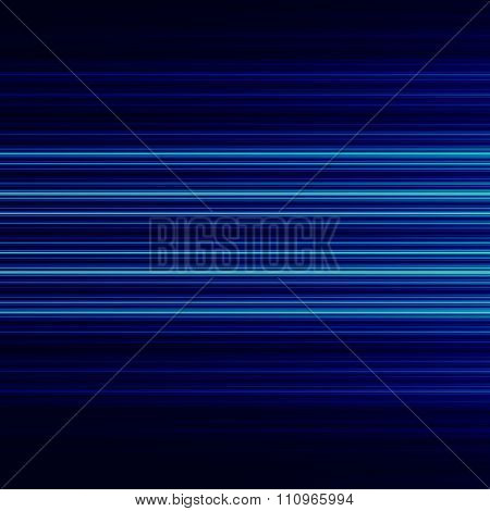 Abstract background design with blue horizontal lines. Visual ray or beam. Fast data stream.