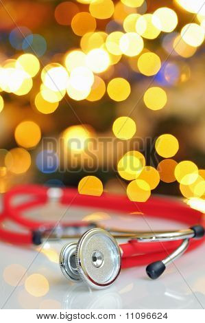 Stethoscope and christmas time