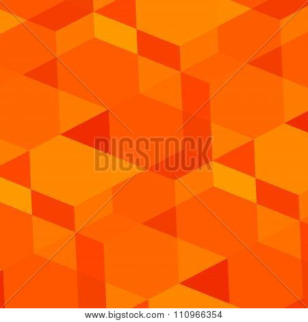 Abstract geometric orange background. Modern digital art. Made in full frame. Weird virtual concept.